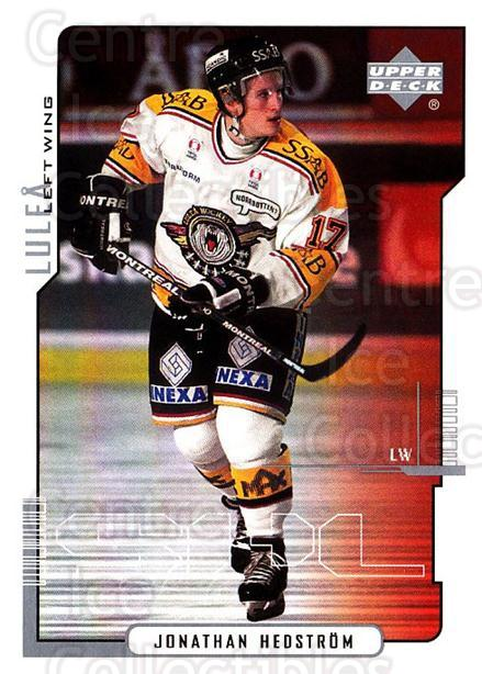 2000-01 Swedish Upper Deck #127 Jonathan Hedstrom<br/>5 In Stock - $2.00 each - <a href=https://centericecollectibles.foxycart.com/cart?name=2000-01%20Swedish%20Upper%20Deck%20%23127%20Jonathan%20Hedstr...&quantity_max=5&price=$2.00&code=88418 class=foxycart> Buy it now! </a>