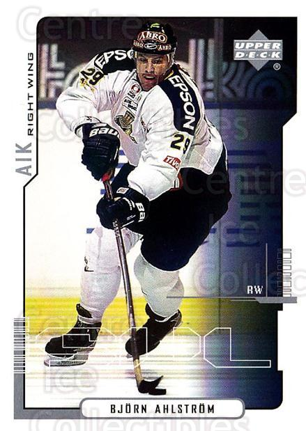 2000-01 Swedish Upper Deck #13 Bjorn Ahlstrom<br/>8 In Stock - $2.00 each - <a href=https://centericecollectibles.foxycart.com/cart?name=2000-01%20Swedish%20Upper%20Deck%20%2313%20Bjorn%20Ahlstrom...&quantity_max=8&price=$2.00&code=88421 class=foxycart> Buy it now! </a>
