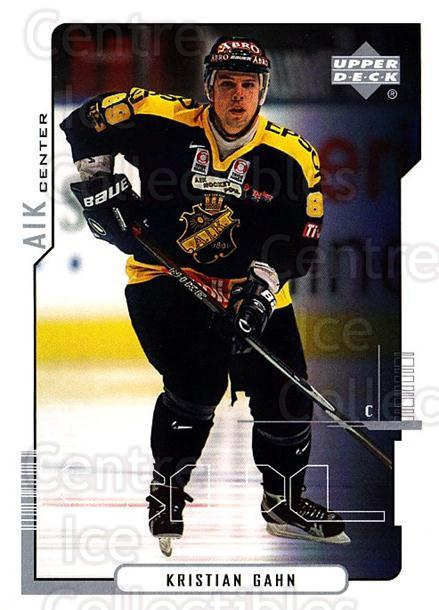2000-01 Swedish Upper Deck #14 Kristian Gahn<br/>6 In Stock - $2.00 each - <a href=https://centericecollectibles.foxycart.com/cart?name=2000-01%20Swedish%20Upper%20Deck%20%2314%20Kristian%20Gahn...&quantity_max=6&price=$2.00&code=88432 class=foxycart> Buy it now! </a>
