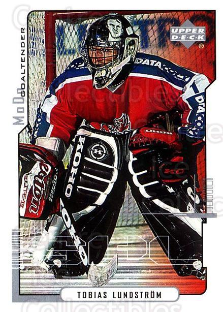 2000-01 Swedish Upper Deck #150 Tobias Lundstrom<br/>8 In Stock - $2.00 each - <a href=https://centericecollectibles.foxycart.com/cart?name=2000-01%20Swedish%20Upper%20Deck%20%23150%20Tobias%20Lundstro...&quantity_max=8&price=$2.00&code=88441 class=foxycart> Buy it now! </a>