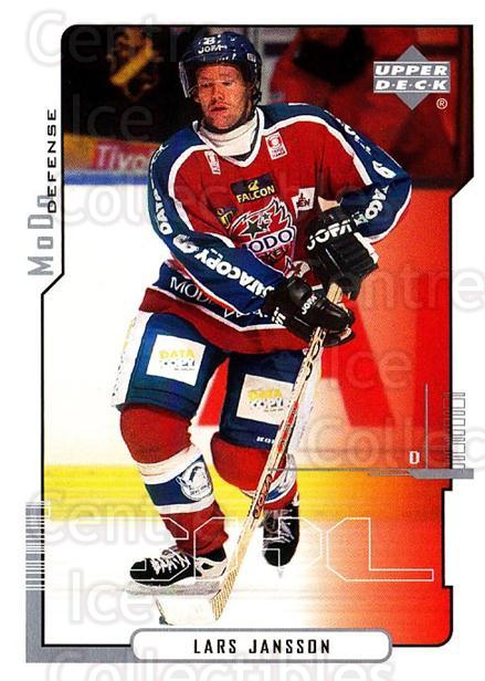 2000-01 Swedish Upper Deck #154 Lars Jansson<br/>6 In Stock - $2.00 each - <a href=https://centericecollectibles.foxycart.com/cart?name=2000-01%20Swedish%20Upper%20Deck%20%23154%20Lars%20Jansson...&quantity_max=6&price=$2.00&code=88444 class=foxycart> Buy it now! </a>