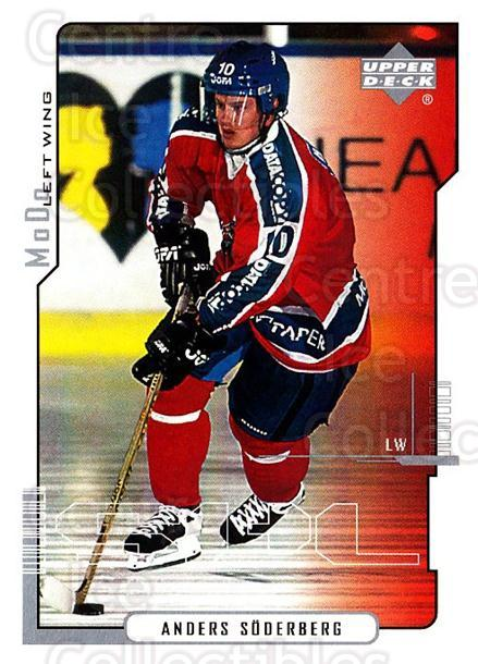 2000-01 Swedish Upper Deck #158 Anders Soderberg<br/>6 In Stock - $2.00 each - <a href=https://centericecollectibles.foxycart.com/cart?name=2000-01%20Swedish%20Upper%20Deck%20%23158%20Anders%20Soderber...&quantity_max=6&price=$2.00&code=88448 class=foxycart> Buy it now! </a>