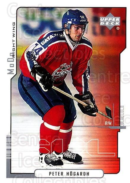 2000-01 Swedish Upper Deck #161 Peter Hogardh<br/>5 In Stock - $2.00 each - <a href=https://centericecollectibles.foxycart.com/cart?name=2000-01%20Swedish%20Upper%20Deck%20%23161%20Peter%20Hogardh...&quantity_max=5&price=$2.00&code=88452 class=foxycart> Buy it now! </a>