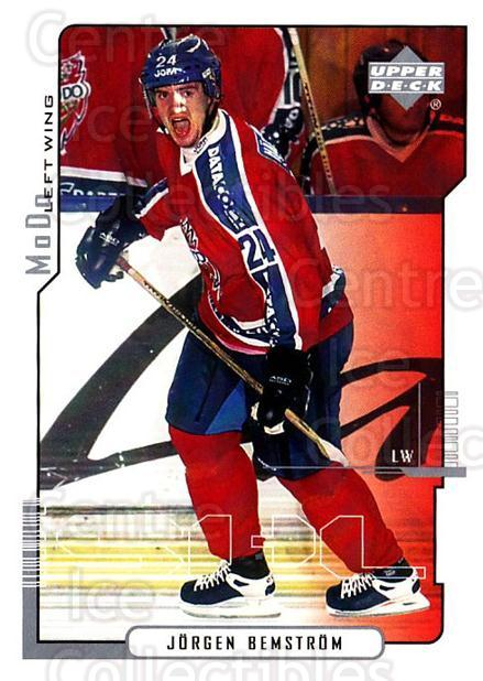 2000-01 Swedish Upper Deck #163 Jorgen Bemstrom<br/>6 In Stock - $2.00 each - <a href=https://centericecollectibles.foxycart.com/cart?name=2000-01%20Swedish%20Upper%20Deck%20%23163%20Jorgen%20Bemstrom...&quantity_max=6&price=$2.00&code=88453 class=foxycart> Buy it now! </a>