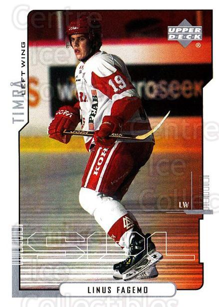 2000-01 Swedish Upper Deck #174 Linus Fagemo<br/>6 In Stock - $2.00 each - <a href=https://centericecollectibles.foxycart.com/cart?name=2000-01%20Swedish%20Upper%20Deck%20%23174%20Linus%20Fagemo...&quantity_max=6&price=$2.00&code=88464 class=foxycart> Buy it now! </a>