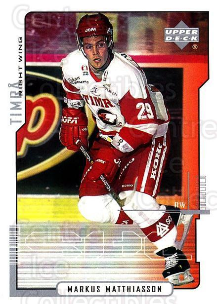 2000-01 Swedish Upper Deck #178 Markus Matthiasson<br/>2 In Stock - $2.00 each - <a href=https://centericecollectibles.foxycart.com/cart?name=2000-01%20Swedish%20Upper%20Deck%20%23178%20Markus%20Matthias...&quantity_max=2&price=$2.00&code=88467 class=foxycart> Buy it now! </a>