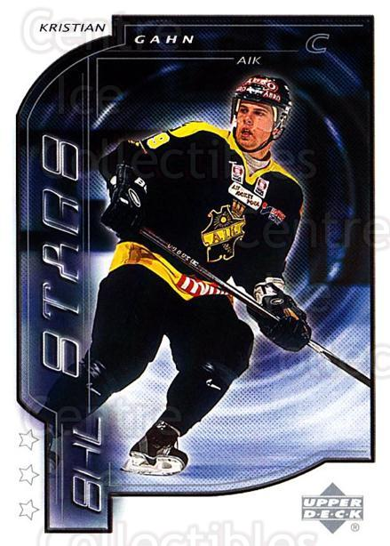 2000-01 Swedish Upper Deck #180 Kristian Gahn<br/>7 In Stock - $2.00 each - <a href=https://centericecollectibles.foxycart.com/cart?name=2000-01%20Swedish%20Upper%20Deck%20%23180%20Kristian%20Gahn...&quantity_max=7&price=$2.00&code=88469 class=foxycart> Buy it now! </a>