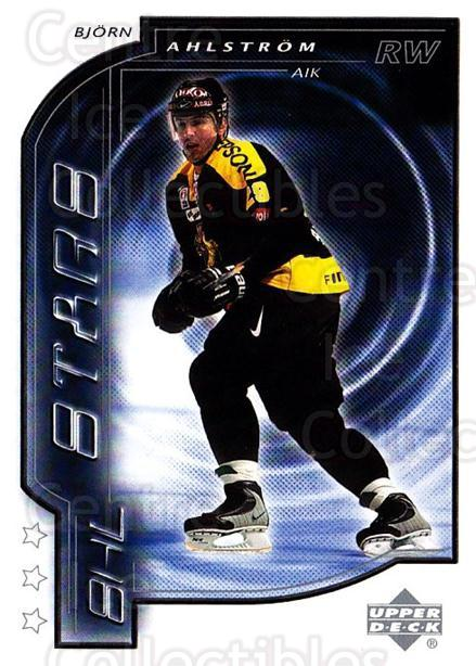 2000-01 Swedish Upper Deck #181 Bjorn Ahlstrom<br/>10 In Stock - $2.00 each - <a href=https://centericecollectibles.foxycart.com/cart?name=2000-01%20Swedish%20Upper%20Deck%20%23181%20Bjorn%20Ahlstrom...&quantity_max=10&price=$2.00&code=88470 class=foxycart> Buy it now! </a>