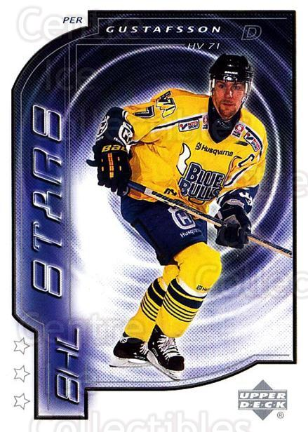 2000-01 Swedish Upper Deck #196 Per Gustafsson<br/>7 In Stock - $2.00 each - <a href=https://centericecollectibles.foxycart.com/cart?name=2000-01%20Swedish%20Upper%20Deck%20%23196%20Per%20Gustafsson...&price=$2.00&code=88482 class=foxycart> Buy it now! </a>