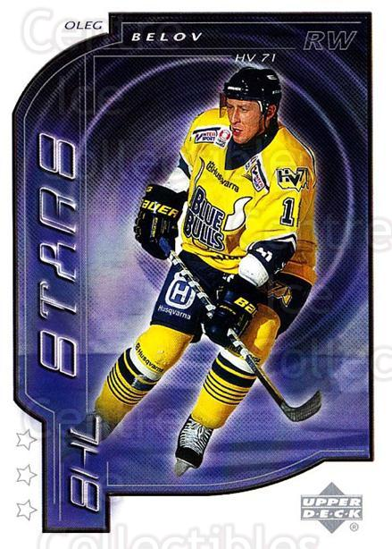 2000-01 Swedish Upper Deck #198 Oleg Belov<br/>5 In Stock - $2.00 each - <a href=https://centericecollectibles.foxycart.com/cart?name=2000-01%20Swedish%20Upper%20Deck%20%23198%20Oleg%20Belov...&price=$2.00&code=88484 class=foxycart> Buy it now! </a>