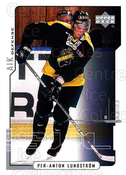 2000-01 Swedish Upper Deck #2 Per-Anton Lundstrom<br/>2 In Stock - $2.00 each - <a href=https://centericecollectibles.foxycart.com/cart?name=2000-01%20Swedish%20Upper%20Deck%20%232%20Per-Anton%20Lunds...&quantity_max=2&price=$2.00&code=88486 class=foxycart> Buy it now! </a>