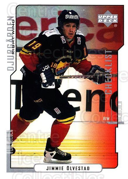 2000-01 Swedish Upper Deck #212 Jimmie Olvestad, Checklist<br/>8 In Stock - $2.00 each - <a href=https://centericecollectibles.foxycart.com/cart?name=2000-01%20Swedish%20Upper%20Deck%20%23212%20Jimmie%20Olvestad...&price=$2.00&code=88497 class=foxycart> Buy it now! </a>