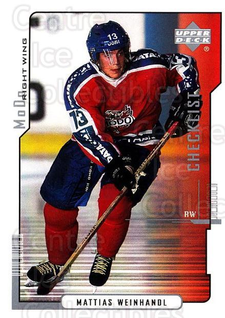 2000-01 Swedish Upper Deck #219 Mattias Weinhandl, Checklist<br/>10 In Stock - $2.00 each - <a href=https://centericecollectibles.foxycart.com/cart?name=2000-01%20Swedish%20Upper%20Deck%20%23219%20Mattias%20Weinhan...&quantity_max=10&price=$2.00&code=88502 class=foxycart> Buy it now! </a>
