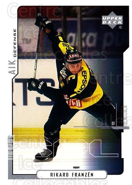 2000-01 Swedish Upper Deck #4 Rikard Franzen<br/>2 In Stock - $2.00 each - <a href=https://centericecollectibles.foxycart.com/cart?name=2000-01%20Swedish%20Upper%20Deck%20%234%20Rikard%20Franzen...&quantity_max=2&price=$2.00&code=88518 class=foxycart> Buy it now! </a>