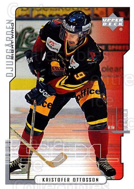 2000-01 Swedish Upper Deck #51 Kristofer Ottosson<br/>9 In Stock - $2.00 each - <a href=https://centericecollectibles.foxycart.com/cart?name=2000-01%20Swedish%20Upper%20Deck%20%2351%20Kristofer%20Ottos...&price=$2.00&code=88527 class=foxycart> Buy it now! </a>