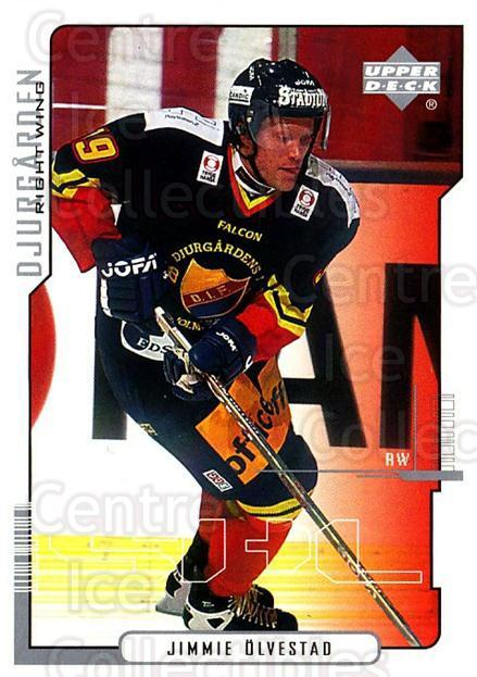 2000-01 Swedish Upper Deck #55 Jimmie Olvestad<br/>6 In Stock - $2.00 each - <a href=https://centericecollectibles.foxycart.com/cart?name=2000-01%20Swedish%20Upper%20Deck%20%2355%20Jimmie%20Olvestad...&price=$2.00&code=88530 class=foxycart> Buy it now! </a>