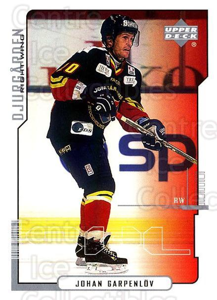2000-01 Swedish Upper Deck #56 Johan Garpenlov<br/>7 In Stock - $2.00 each - <a href=https://centericecollectibles.foxycart.com/cart?name=2000-01%20Swedish%20Upper%20Deck%20%2356%20Johan%20Garpenlov...&price=$2.00&code=88531 class=foxycart> Buy it now! </a>
