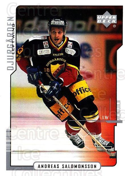 2000-01 Swedish Upper Deck #57 Andreas Salomonsson<br/>5 In Stock - $2.00 each - <a href=https://centericecollectibles.foxycart.com/cart?name=2000-01%20Swedish%20Upper%20Deck%20%2357%20Andreas%20Salomon...&price=$2.00&code=88532 class=foxycart> Buy it now! </a>