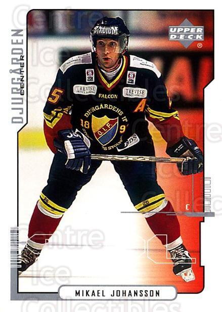 2000-01 Swedish Upper Deck #58 Mikael Johansson<br/>7 In Stock - $2.00 each - <a href=https://centericecollectibles.foxycart.com/cart?name=2000-01%20Swedish%20Upper%20Deck%20%2358%20Mikael%20Johansso...&price=$2.00&code=88533 class=foxycart> Buy it now! </a>