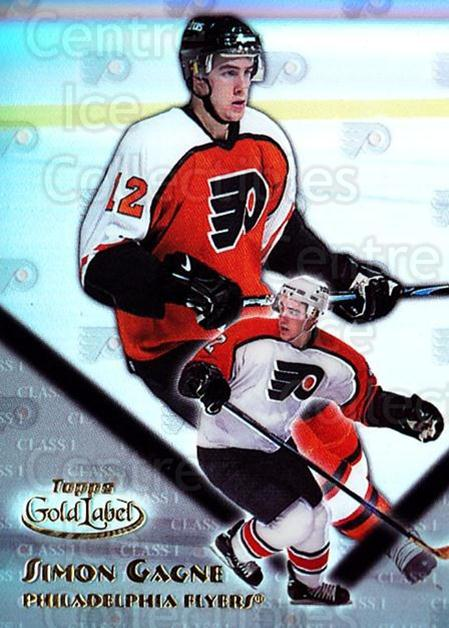 2000-01 Topps Gold Label Class 1 #59 Simon Gagne<br/>4 In Stock - $1.00 each - <a href=https://centericecollectibles.foxycart.com/cart?name=2000-01%20Topps%20Gold%20Label%20Class%201%20%2359%20Simon%20Gagne...&quantity_max=4&price=$1.00&code=89146 class=foxycart> Buy it now! </a>