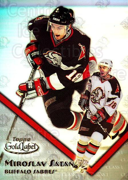 2000-01 Topps Gold Label Class 1 #75 Miroslav Satan<br/>6 In Stock - $1.00 each - <a href=https://centericecollectibles.foxycart.com/cart?name=2000-01%20Topps%20Gold%20Label%20Class%201%20%2375%20Miroslav%20Satan...&quantity_max=6&price=$1.00&code=89162 class=foxycart> Buy it now! </a>