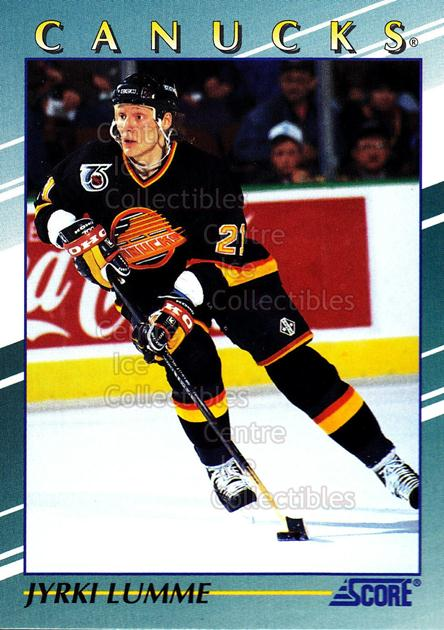 1992-93 Score Young Superstars #34 Jyrki Lumme<br/>4 In Stock - $2.00 each - <a href=https://centericecollectibles.foxycart.com/cart?name=1992-93%20Score%20Young%20Superstars%20%2334%20Jyrki%20Lumme...&quantity_max=4&price=$2.00&code=8921 class=foxycart> Buy it now! </a>