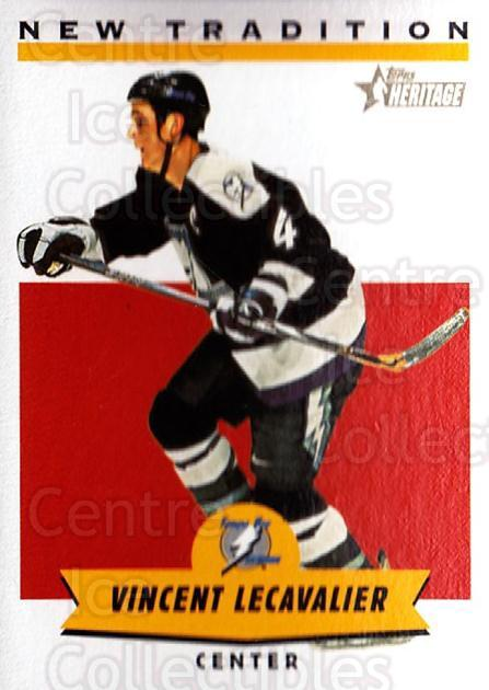 2000-01 Topps Heritage New Tradition #4 Vincent Lecavalier<br/>5 In Stock - $2.00 each - <a href=https://centericecollectibles.foxycart.com/cart?name=2000-01%20Topps%20Heritage%20New%20Tradition%20%234%20Vincent%20Lecaval...&quantity_max=5&price=$2.00&code=89220 class=foxycart> Buy it now! </a>