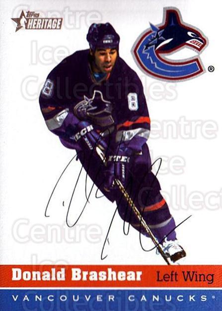 2000-01 Topps Heritage #164 Donald Brashear<br/>4 In Stock - $1.00 each - <a href=https://centericecollectibles.foxycart.com/cart?name=2000-01%20Topps%20Heritage%20%23164%20Donald%20Brashear...&quantity_max=4&price=$1.00&code=89295 class=foxycart> Buy it now! </a>