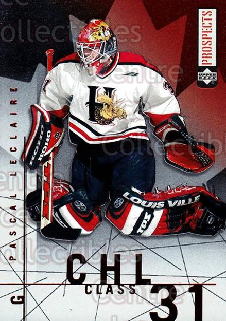 2000-01 UD CHL Prospects CHL Class #9 Pascal Leclaire<br/>2 In Stock - $2.00 each - <a href=https://centericecollectibles.foxycart.com/cart?name=2000-01%20UD%20CHL%20Prospects%20CHL%20Class%20%239%20Pascal%20Leclaire...&quantity_max=2&price=$2.00&code=89721 class=foxycart> Buy it now! </a>