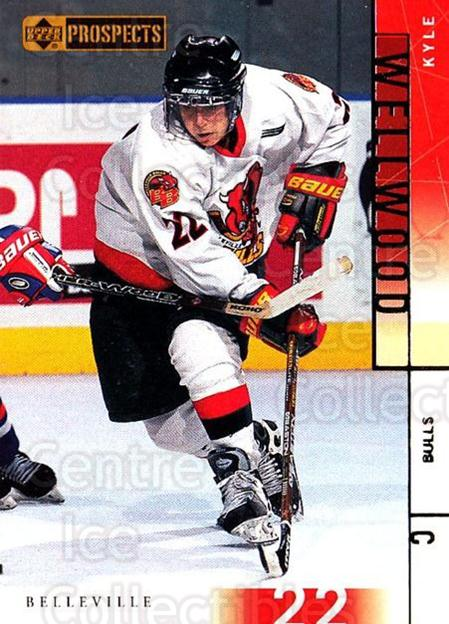 2000-01 UD CHL Prospects #33 Kyle Wellwood<br/>4 In Stock - $1.00 each - <a href=https://centericecollectibles.foxycart.com/cart?name=2000-01%20UD%20CHL%20Prospects%20%2333%20Kyle%20Wellwood...&price=$1.00&code=89768 class=foxycart> Buy it now! </a>