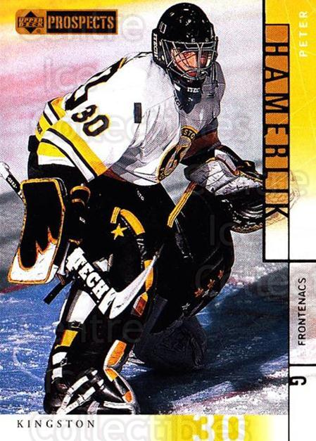 2000-01 UD CHL Prospects #7 Peter Hamerlik<br/>6 In Stock - $1.00 each - <a href=https://centericecollectibles.foxycart.com/cart?name=2000-01%20UD%20CHL%20Prospects%20%237%20Peter%20Hamerlik...&price=$1.00&code=89804 class=foxycart> Buy it now! </a>
