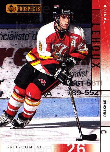 2000-01 UD CHL Prospects #77 Yanick Lehoux<br/>5 In Stock - $1.00 each - <a href=https://centericecollectibles.foxycart.com/cart?name=2000-01%20UD%20CHL%20Prospects%20%2377%20Yanick%20Lehoux...&quantity_max=5&price=$1.00&code=89812 class=foxycart> Buy it now! </a>