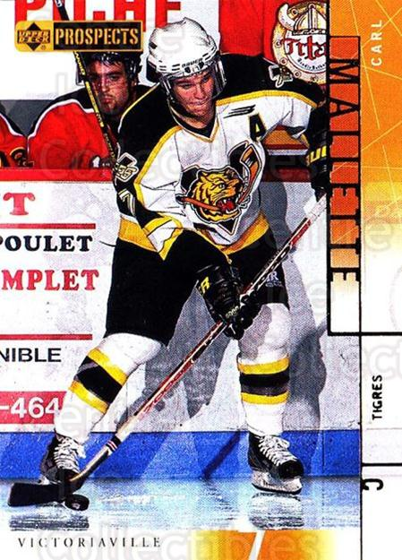 2000-01 UD CHL Prospects #84 Carl Mallette<br/>6 In Stock - $1.00 each - <a href=https://centericecollectibles.foxycart.com/cart?name=2000-01%20UD%20CHL%20Prospects%20%2384%20Carl%20Mallette...&quantity_max=6&price=$1.00&code=89820 class=foxycart> Buy it now! </a>