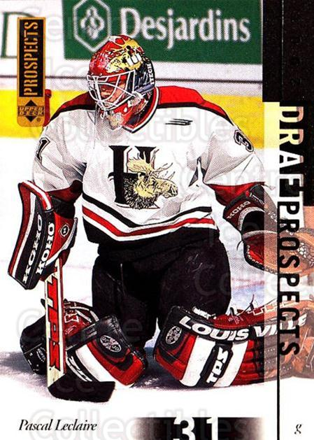 2000-01 UD CHL Prospects #90 Pascal Leclaire<br/>4 In Stock - $1.00 each - <a href=https://centericecollectibles.foxycart.com/cart?name=2000-01%20UD%20CHL%20Prospects%20%2390%20Pascal%20Leclaire...&quantity_max=4&price=$1.00&code=89827 class=foxycart> Buy it now! </a>