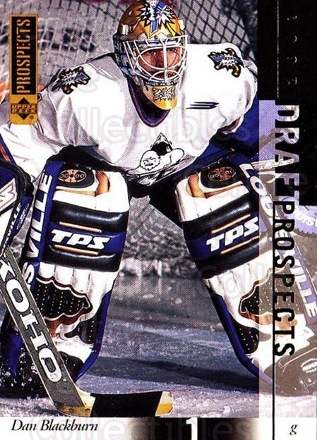 2000-01 UD CHL Prospects #91 Dan Blackburn<br/>4 In Stock - $1.00 each - <a href=https://centericecollectibles.foxycart.com/cart?name=2000-01%20UD%20CHL%20Prospects%20%2391%20Dan%20Blackburn...&price=$1.00&code=89828 class=foxycart> Buy it now! </a>