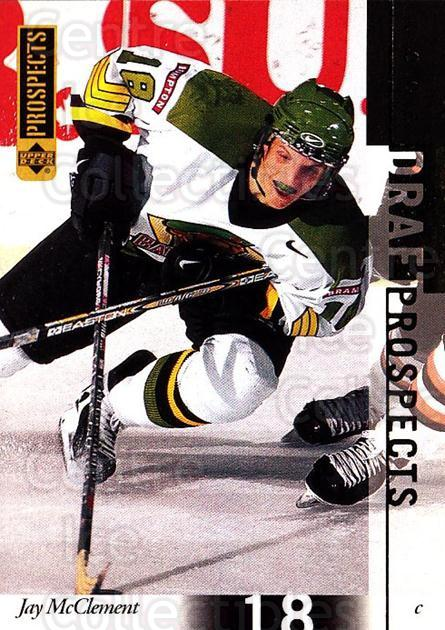 2000-01 UD CHL Prospects #96 Jay McClement<br/>16 In Stock - $1.00 each - <a href=https://centericecollectibles.foxycart.com/cart?name=2000-01%20UD%20CHL%20Prospects%20%2396%20Jay%20McClement...&price=$1.00&code=89831 class=foxycart> Buy it now! </a>