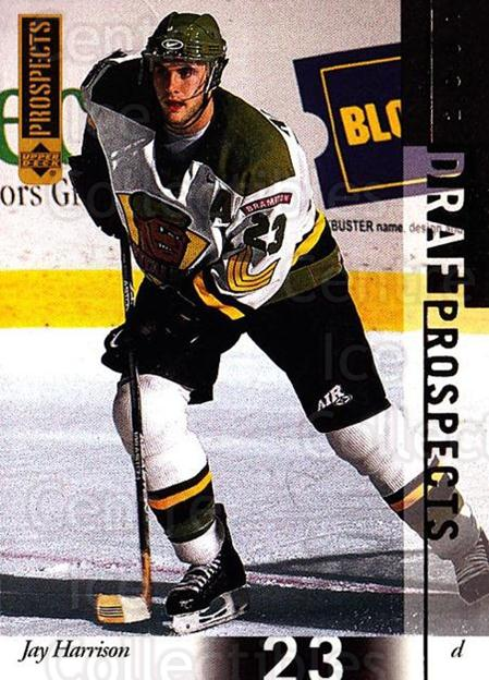 2000-01 UD CHL Prospects #97 Jay Harrison<br/>10 In Stock - $1.00 each - <a href=https://centericecollectibles.foxycart.com/cart?name=2000-01%20UD%20CHL%20Prospects%20%2397%20Jay%20Harrison...&price=$1.00&code=89832 class=foxycart> Buy it now! </a>