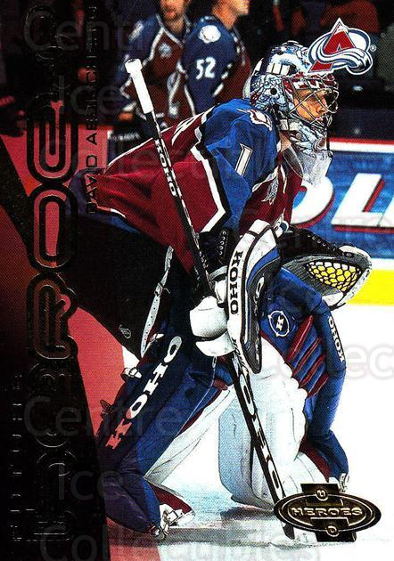 2000-01 UD Heroes #161 David Aebischer<br/>5 In Stock - $2.00 each - <a href=https://centericecollectibles.foxycart.com/cart?name=2000-01%20UD%20Heroes%20%23161%20David%20Aebischer...&quantity_max=5&price=$2.00&code=89915 class=foxycart> Buy it now! </a>