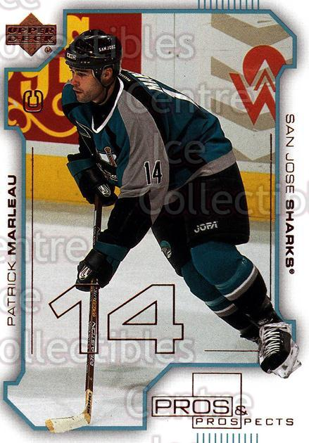 2000-01 UD Pros and Prospects #73 Patrick Marleau<br/>11 In Stock - $1.00 each - <a href=https://centericecollectibles.foxycart.com/cart?name=2000-01%20UD%20Pros%20and%20Prospects%20%2373%20Patrick%20Marleau...&quantity_max=11&price=$1.00&code=90086 class=foxycart> Buy it now! </a>