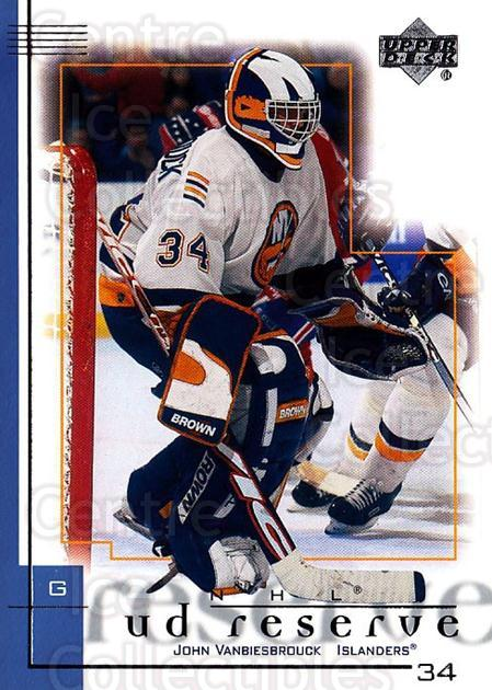 2000-01 UD Reserve #55 John Vanbiesbrouck<br/>1 In Stock - $1.00 each - <a href=https://centericecollectibles.foxycart.com/cart?name=2000-01%20UD%20Reserve%20%2355%20John%20Vanbiesbro...&quantity_max=1&price=$1.00&code=90187 class=foxycart> Buy it now! </a>