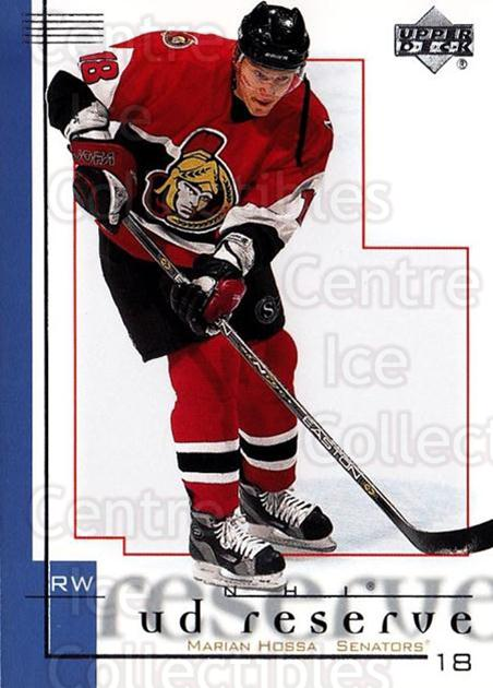 2000-01 UD Reserve #59 Marian Hossa<br/>3 In Stock - $1.00 each - <a href=https://centericecollectibles.foxycart.com/cart?name=2000-01%20UD%20Reserve%20%2359%20Marian%20Hossa...&quantity_max=3&price=$1.00&code=90191 class=foxycart> Buy it now! </a>