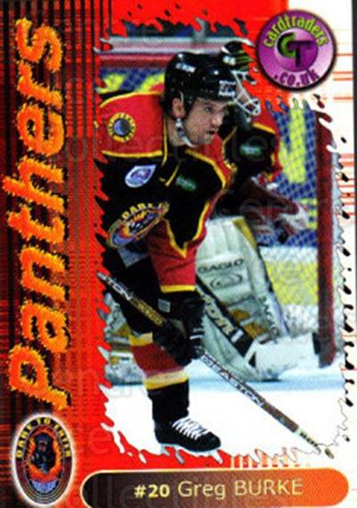 2000-01 UK British Elite Nottingham Panthers #14 Greg Burke<br/>12 In Stock - $2.00 each - <a href=https://centericecollectibles.foxycart.com/cart?name=2000-01%20UK%20British%20Elite%20Nottingham%20Panthers%20%2314%20Greg%20Burke...&price=$2.00&code=90232 class=foxycart> Buy it now! </a>