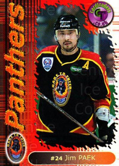 2000-01 UK British Elite Nottingham Panthers #17 Jim Paek<br/>9 In Stock - $2.00 each - <a href=https://centericecollectibles.foxycart.com/cart?name=2000-01%20UK%20British%20Elite%20Nottingham%20Panthers%20%2317%20Jim%20Paek...&price=$2.00&code=90235 class=foxycart> Buy it now! </a>