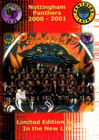 2000-01 UK British Elite Nottingham Panthers #30 Nottingham Panthers, Team Photo<br/>12 In Stock - $2.00 each - <a href=https://centericecollectibles.foxycart.com/cart?name=2000-01%20UK%20British%20Elite%20Nottingham%20Panthers%20%2330%20Nottingham%20Pant...&price=$2.00&code=90250 class=foxycart> Buy it now! </a>