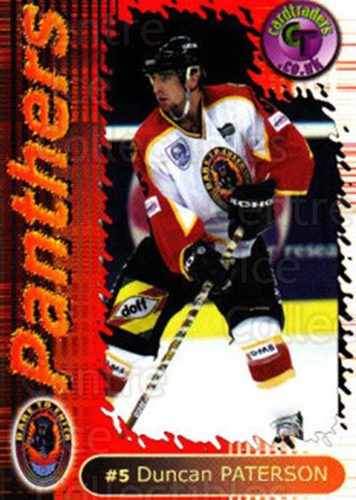 2000-01 UK British Elite Nottingham Panthers #4 Duncan Paterson<br/>10 In Stock - $2.00 each - <a href=https://centericecollectibles.foxycart.com/cart?name=2000-01%20UK%20British%20Elite%20Nottingham%20Panthers%20%234%20Duncan%20Paterson...&price=$2.00&code=90252 class=foxycart> Buy it now! </a>