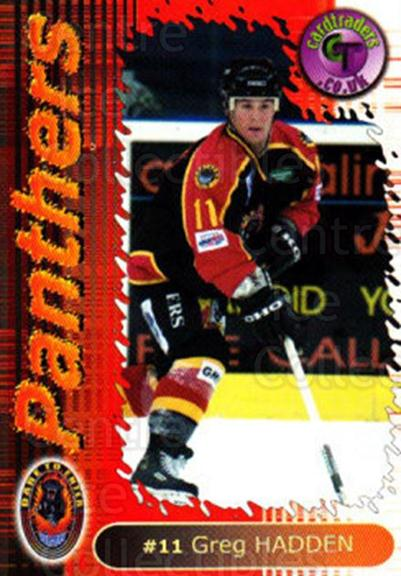 2000-01 UK British Elite Nottingham Panthers #8 Greg Hadden<br/>12 In Stock - $2.00 each - <a href=https://centericecollectibles.foxycart.com/cart?name=2000-01%20UK%20British%20Elite%20Nottingham%20Panthers%20%238%20Greg%20Hadden...&price=$2.00&code=90256 class=foxycart> Buy it now! </a>