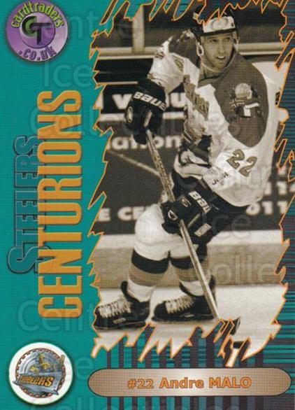 2000-01 UK British Elite Sheffield Steelers Centurions #8 Andre Malo<br/>6 In Stock - $3.00 each - <a href=https://centericecollectibles.foxycart.com/cart?name=2000-01%20UK%20British%20Elite%20Sheffield%20Steelers%20Centurions%20%238%20Andre%20Malo...&quantity_max=6&price=$3.00&code=90275 class=foxycart> Buy it now! </a>