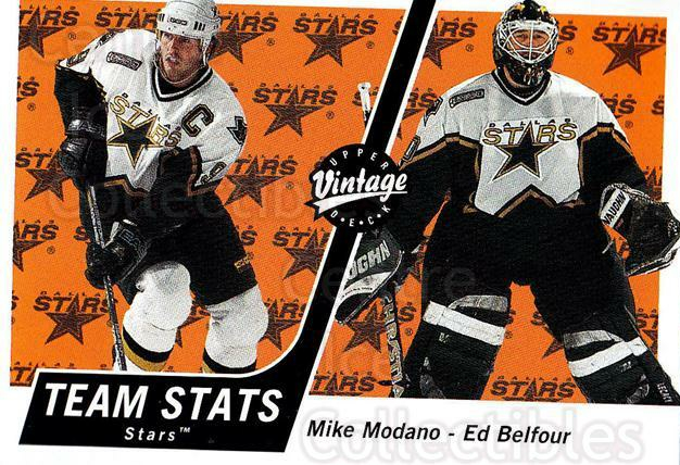 2000-01 UD Vintage #124 Mike Modano, Ed Belfour<br/>6 In Stock - $1.00 each - <a href=https://centericecollectibles.foxycart.com/cart?name=2000-01%20UD%20Vintage%20%23124%20Mike%20Modano,%20Ed...&quantity_max=6&price=$1.00&code=90313 class=foxycart> Buy it now! </a>