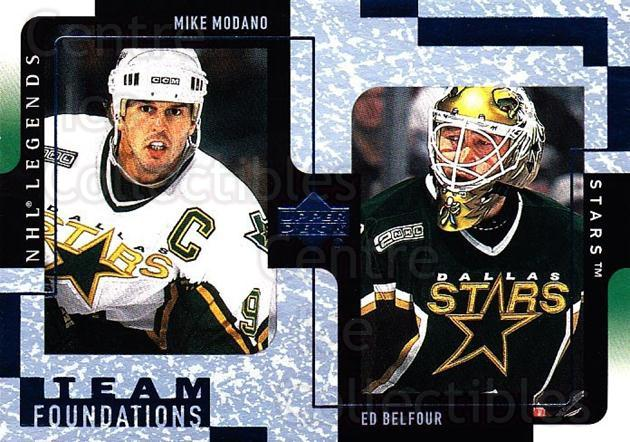 2000-01 Upper Deck Legends #40 Mike Modano, Ed Belfour<br/>2 In Stock - $1.00 each - <a href=https://centericecollectibles.foxycart.com/cart?name=2000-01%20Upper%20Deck%20Legends%20%2340%20Mike%20Modano,%20Ed...&price=$1.00&code=90319 class=foxycart> Buy it now! </a>