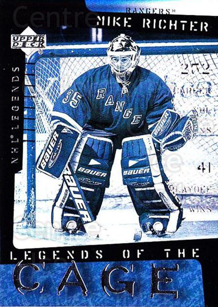 2000-01 Upper Deck Legends of the Cage #7 Mike Richter<br/>5 In Stock - $3.00 each - <a href=https://centericecollectibles.foxycart.com/cart?name=2000-01%20Upper%20Deck%20Legends%20of%20the%20Cage%20%237%20Mike%20Richter...&quantity_max=5&price=$3.00&code=90543 class=foxycart> Buy it now! </a>